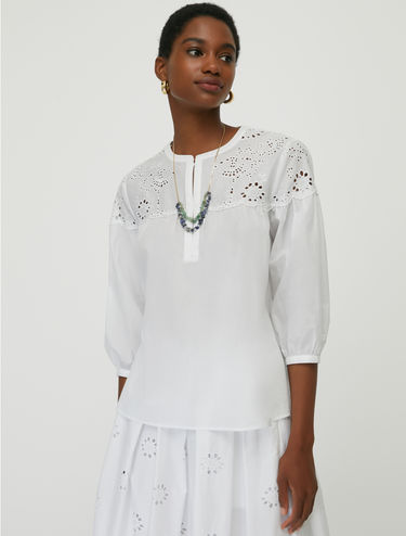 St. Gallen embroidered cotton blouse