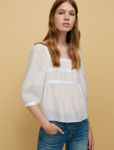 Cotton and silk voile blouse