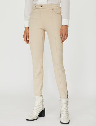 Skinny trousers with ankle zips