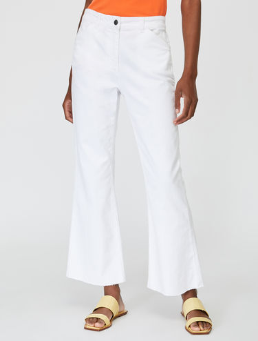 Bootcut jeans in cotton drill