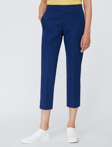 Slim gabardine cropped trousers