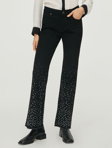 Bootcut jeans with studs