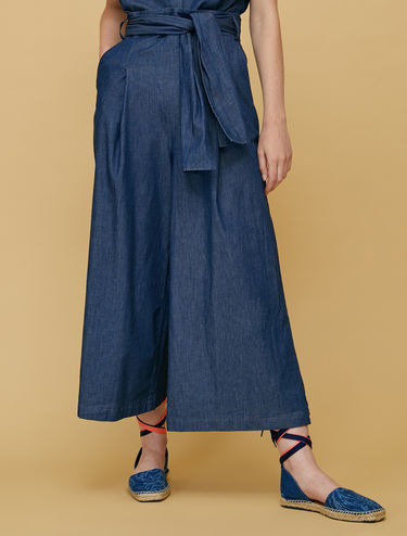 Lightweight denim culottes