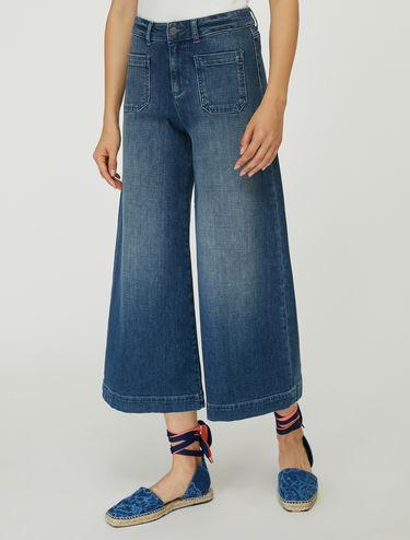 Jeans taglio culotte