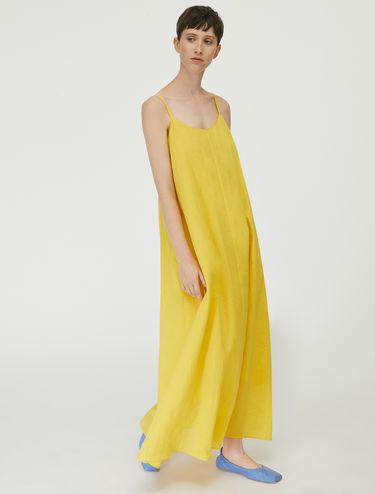 Langes Ramie-Kleid