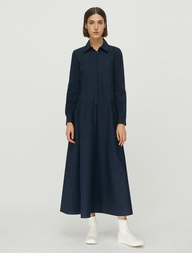Vestido camisero de popelina