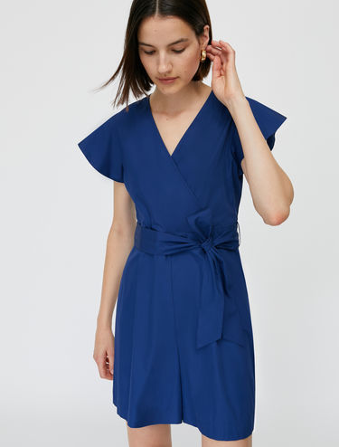 Mini poplin jumpsuit
