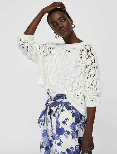 Tricot lace jumper