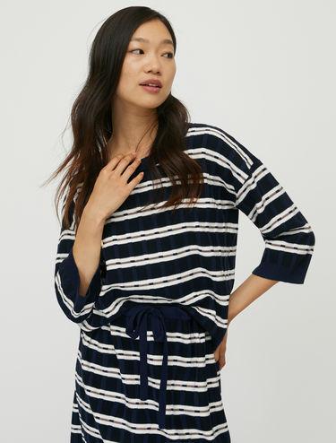 3D striped jumper