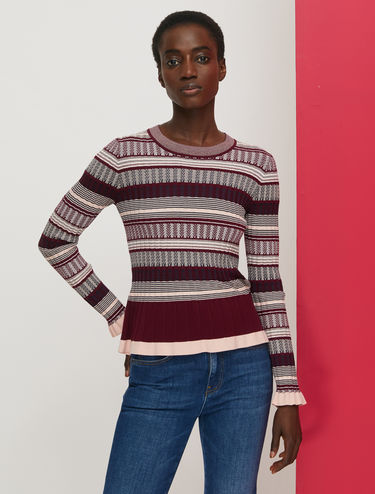 Ribbed jacquard jumper