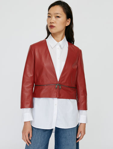 Nappa leather convertible jacket