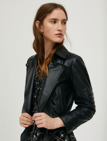 Aviator jacket in nappa leather
