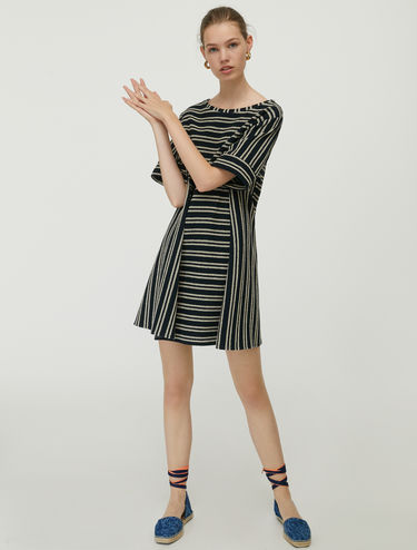 Chevron jersey dress
