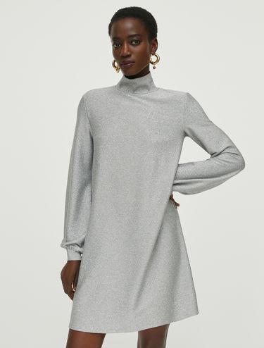Robe en jersey lamé