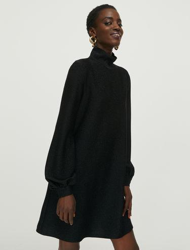 Kleid aus Jersey-Lamé