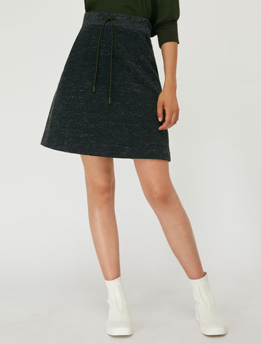 Tweed jersey skirt