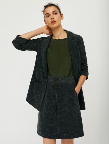 Tweed jersey blazer