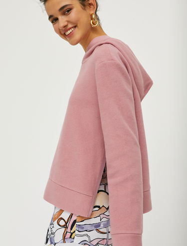 Cotton pile sweatshirt
