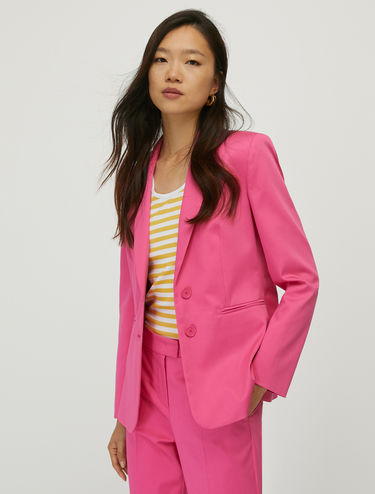 Cotton satin blazer