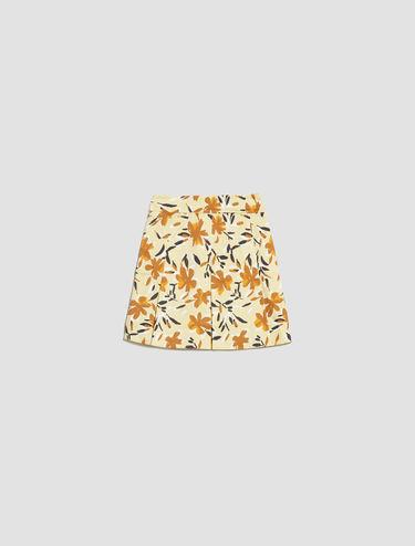 Cotton satin A-line skirt