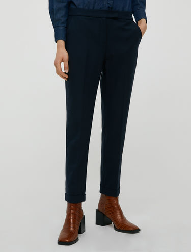 Pantalon slim à revers