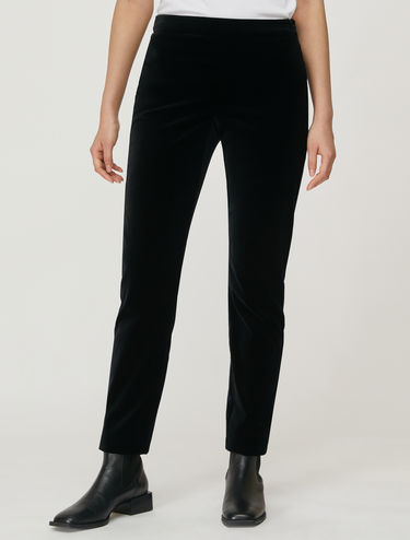 Smooth velvet trousers