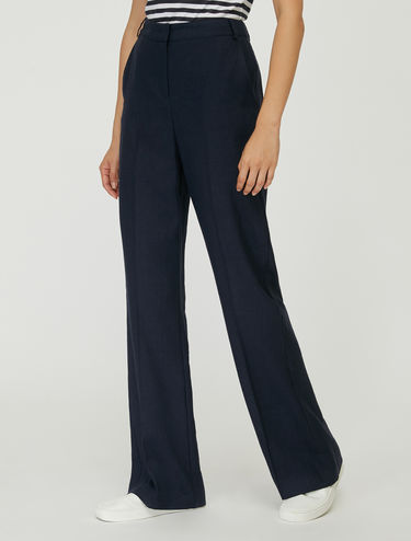Linen twill trousers