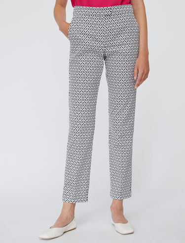 Pantalon coupe slim en satin de coton