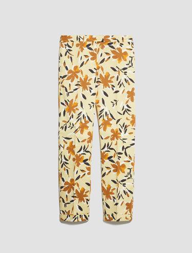 Slim cotton satin trousers