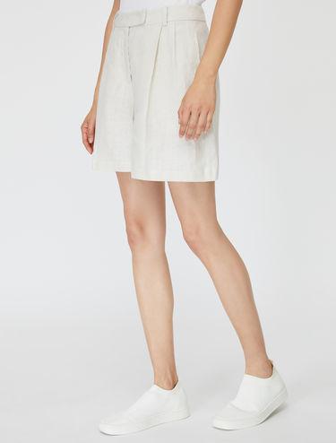 Shorts di puro lino