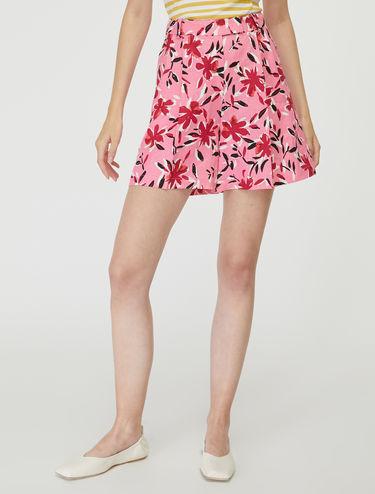 Pure linen shorts