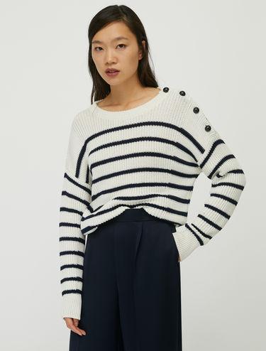 Marinière-Pullover aus Baumwolle