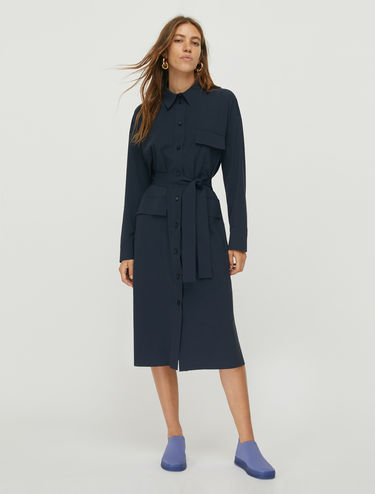 Techno-jersey shirt dress
