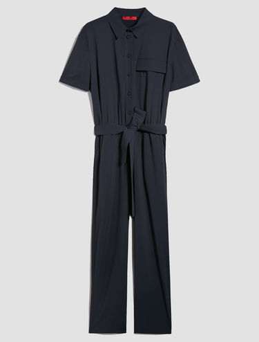 Techno-jersey jumpsuit