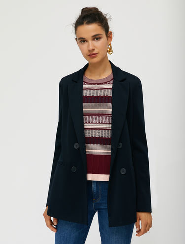 Jersey twill blazer