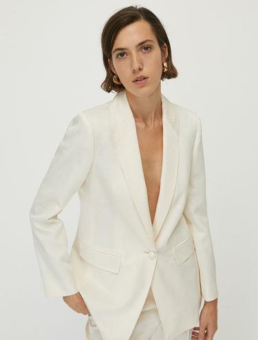 Satin jacquard blazer