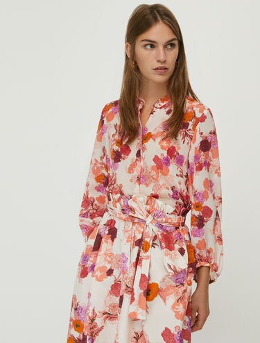 Floral pure silk shirt