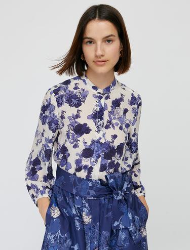 Floral pure silk shirt