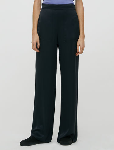 Pantaloni a palazzo in raso