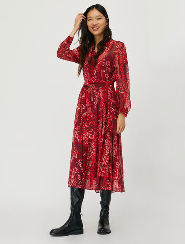 Printed georgette shirt dress
