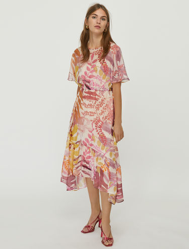 Silk georgette midi dress