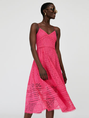 Strappy macramé midi dress