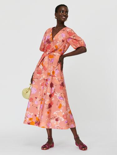 Kleid aus geblümtem Popeline