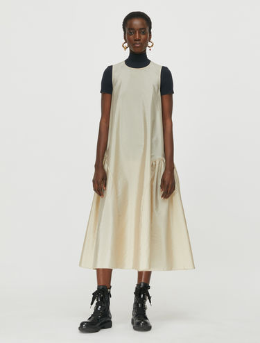 Techno-taffeta midi dress