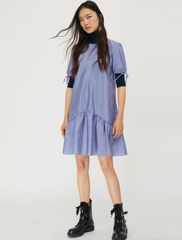 Techno-taffeta dress