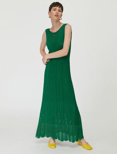 Tricot lace maxi dress