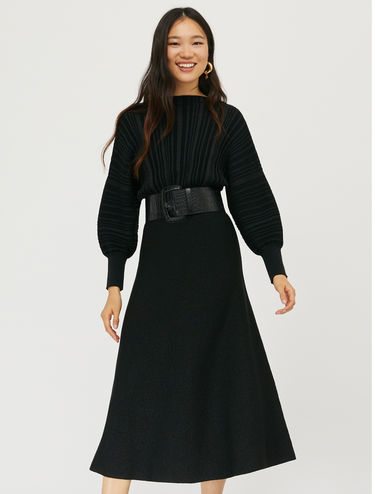 Lamé knit dress