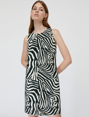 Lamé jersey shift dress