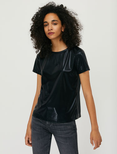 Metallic jersey T-shirt