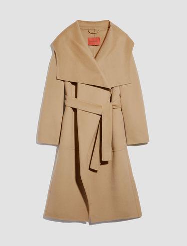 Doppelt gewebter Mantel aus Wolle-Kaschmir